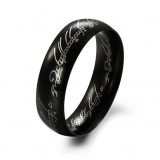Кольцо Всевластия из карбида вольфрама. Цвет: черный