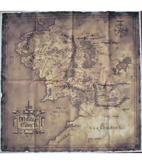 Купить Карту Средиземья. Постер на холсте, низкая цена, доставка по России.