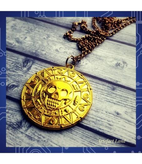 """Купить Кулон Ацтекская монета из фильма """"Пираты Карибского моря"""""""