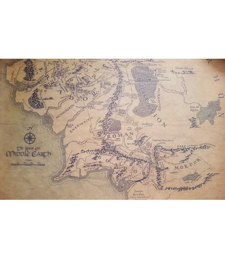 Купить Карту Средиземья. Постер, низкая цена, доставка по России