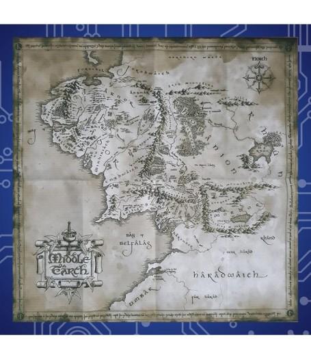 Карта Средиземья на холсте