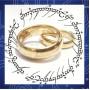 Кольцо Всевластия из карбида вольфрама. Цвет: золото
