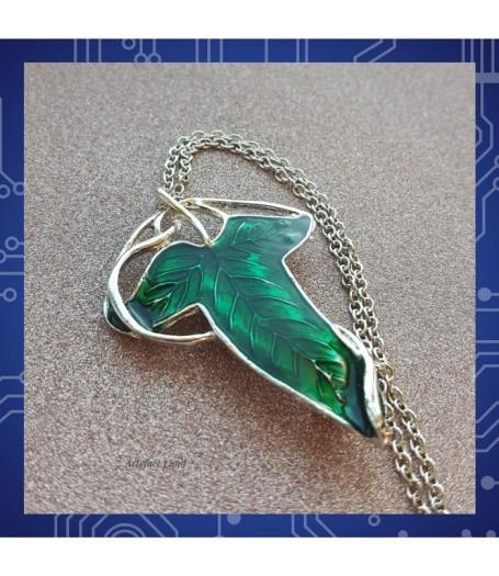 """Кулон-брошь (Elven Leaf) Эльфийский листок из фильма """"Властелин Колец"""""""
